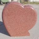 Gravsten Hjärta 212 Red
